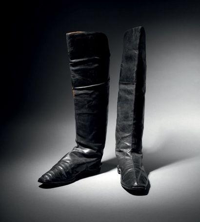 Paire de bottes à l'écuyère attribuée à l'Empereur...