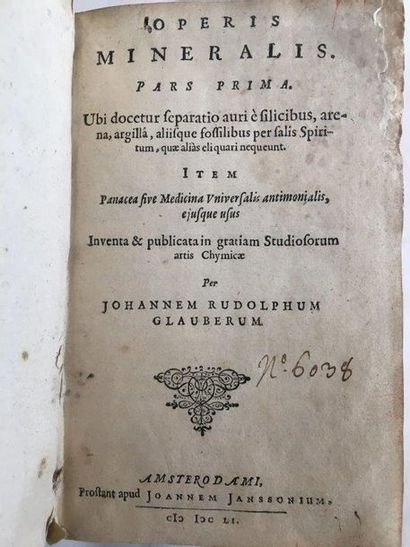GLAUBER (Johann Rudolph)