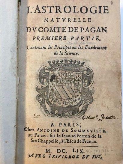 PAGAN (Blaise François, comte de) Natural Astrology. Containing the Principles and...