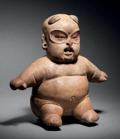 FIGURINE ASSISE DE TYPE BABY FACE Culture...