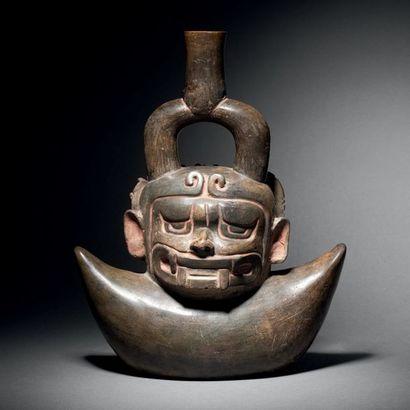 VASE-JANUS Culture Chavin, Cupisnique, Pérou...
