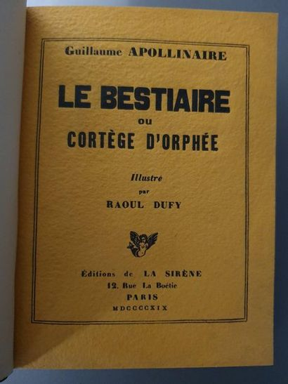 APOLLINAIRE (Guillaume).