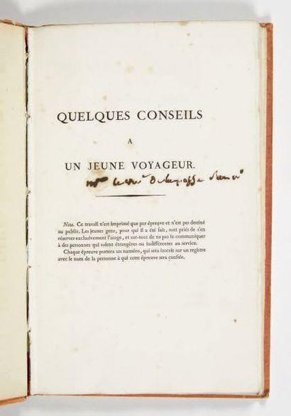 [HAUTERIVE (Alexandre-Maurice Blanc de La Nautte, comte d')] Quelques conseils à...