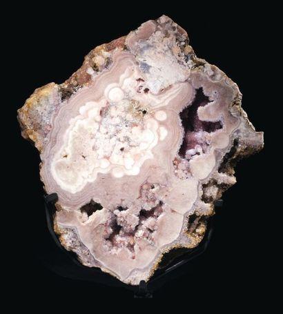 Tranche d'améthyste et quartz rose Rio Grande...
