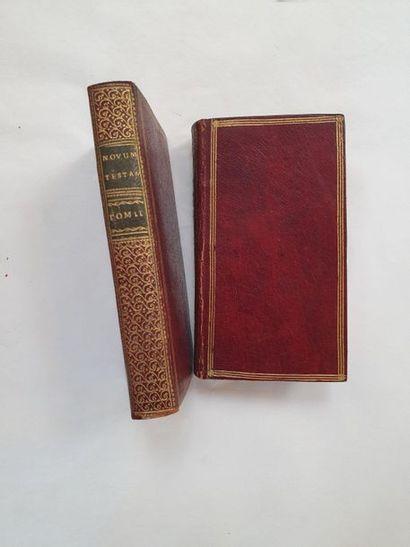 [BIBLE]. [Grec]. Novum testamentum Leyde,...