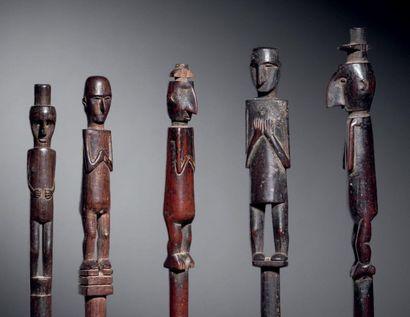 Ensemble de 5 bâtons, Culture Chocó, Colombie...
