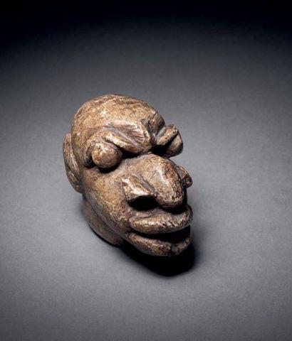 Tête Nomoli, Sierra Leone Pierre H. 6 cm...
