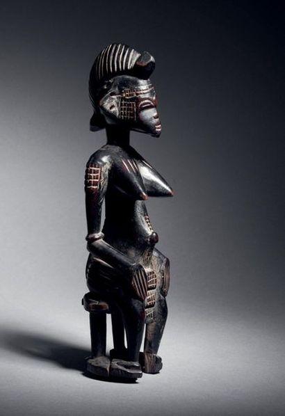 Statuette féminine assise, région de Boundiali,...