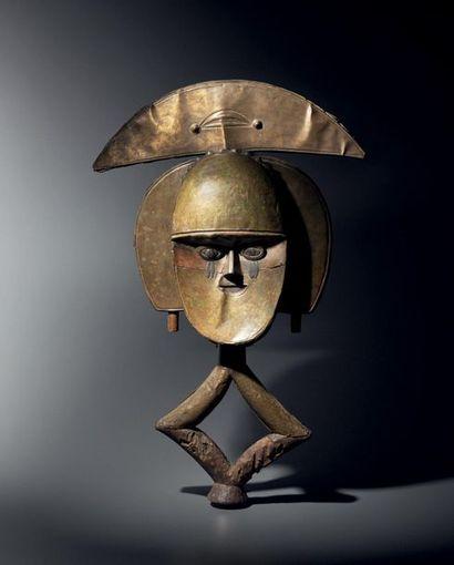 Figure de reliquaire janus, mbulu-viti, groupe...