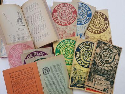 REVUE SUBSIDIA PATAPHYSICA. 1965-1975. 22...