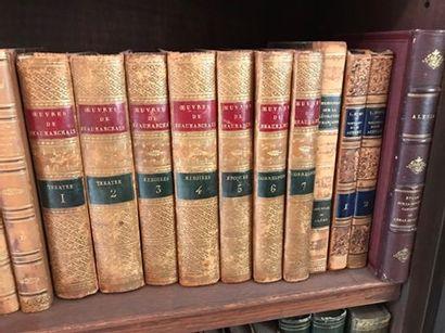 Ensemble de livres reliés du XVIIIème siècle...