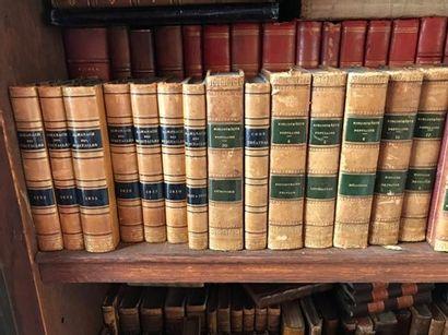 Ensemble de livres reliés des XVIIIème et...