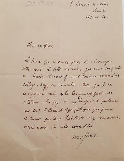 JACOB (Max) poète français (1876-1944).