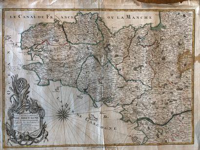 BRETAGNE. — SOCIÉTÉ D'INGÉNIEURS. General Map of the Province of Brittany Geometrically...