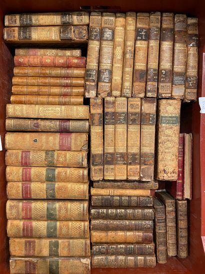 Quatre manettes d'ouvrages reliés, 18 et...