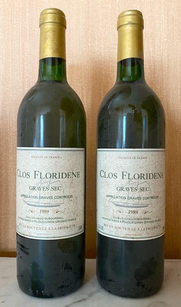 2 bouteilles CLOS FLORIDIEN Blanc sec -...