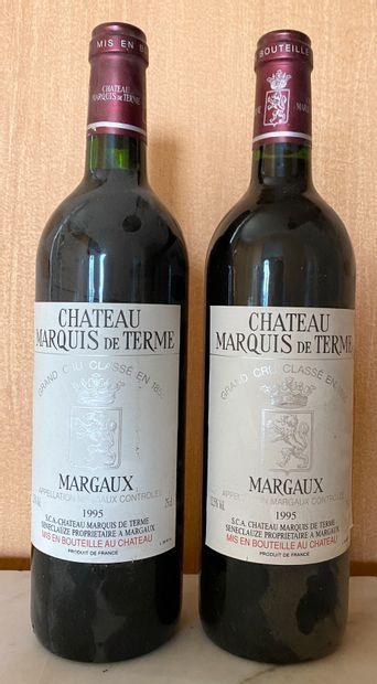 2 bouteilles CHÂTEAU MARQUIS de TERME -...