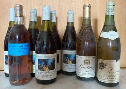 1 Lot de 8 bouteillesVINS FRANCAIS DIVERSa...