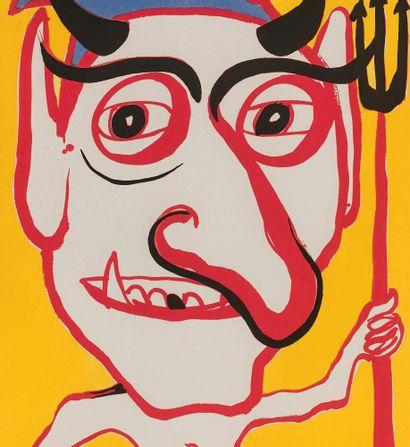 Alexander Calder (américain, 1898-1976) Devil (portrait by C. Tacou). Frontispiece...