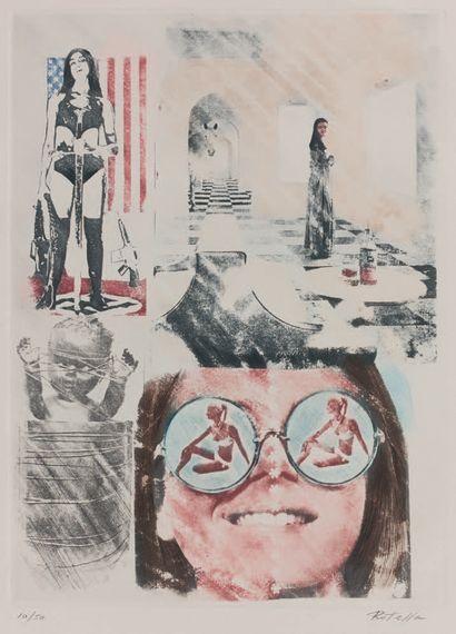 Mimmo Rotella (italien, 1918-2006) Abrasions. Éditions Graphiques Int., Paris Milan,...