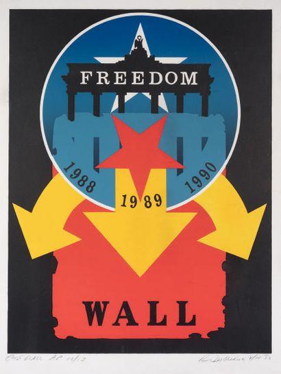 Robert Indiana (Robert Clark, dit) (américain, 1928-2018) Freedom Wall. 1990. Silkscreen...