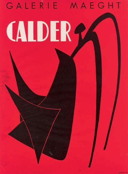 Alexander Calder (américain, 1898-1976) (d'après) Affiche pour une exposition de...