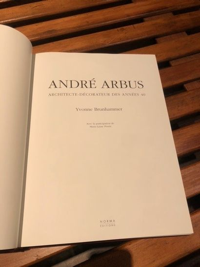 Yvonne BRUNHAMMER André Arbus, Norma, Paris, 1996, embossed red leather edition.