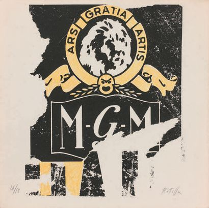 Mimmo Rotella (italien, 1918-2006) MGM. 1992. Lithograph. Subject: 22.8 x 19 cm....