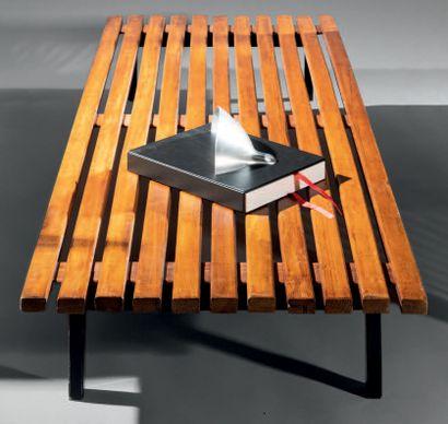 "Charlotte PERRIAND (1903-1999) & Steph SIMON (Éditeur) ""Cansado"" bench, model created..."