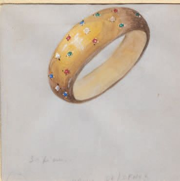 François ROQUES (actif au XXe siècle) Jewelry and Accessories Lot of six projects...