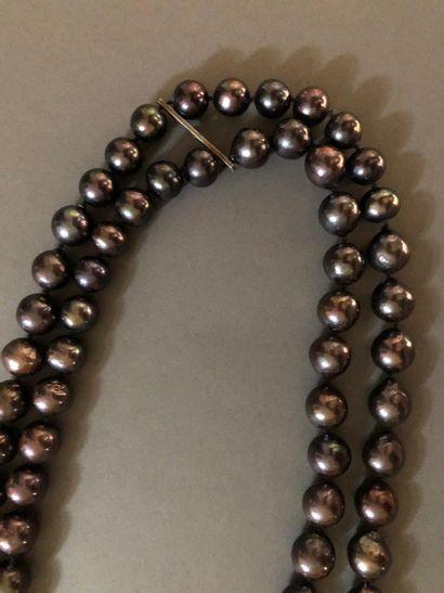 Angela Pintaldi Angela Pintaldi Collier Perles noires L. 177 cm