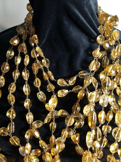 Angela Pintaldi Angela Pintaldi Collier Or 750 millièmes et topazes jaunes Tour de...