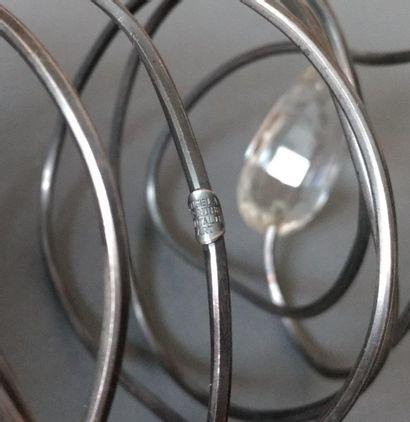 Angela Pintaldi Angela Pintaldi Bracelet Argent, topaze blanche et météorite L. 20...
