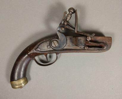 Briquet-pistolet de table à silex à platine,...