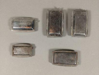 Lot de 5 briquets à silex de poche de forme...
