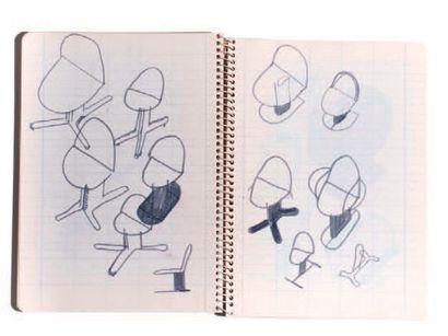 Ettore SOTTSASS (1917-2007) & POLTRONOVA (éditeur) Trois chaises dite Harlow, modèle...