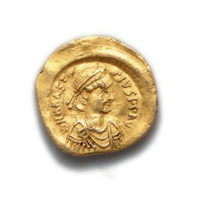 ANASTASE (491-518) Trémissis. Constantinople....