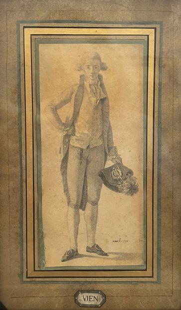 Joseph Marie VIEN, le jeune (Montpellier 1771 - Paris 1848) Portrait d'homme en pied...
