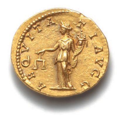 SEPTIME SÉVÈRE (193-211) Auréus. Rome (199-200). 7,32 g. Son buste lauré, drapé...