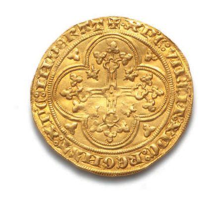 PHILIPPE VI (1328-1350) Écu d'or à la chaise. 4,49 g. D. 249. Flan large. Très bel...