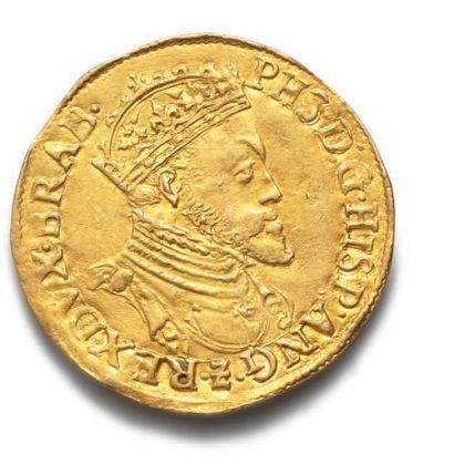 BELGIQUE : Philippe II d'Espagne (1555-1576) Réal d'or. Anvers. 5,30 g. Fr. 64....