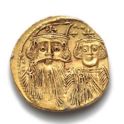 CONSTANT II et ses fils (659-668) Solidus....