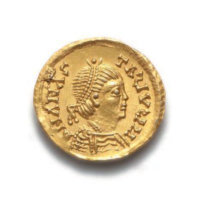 ANASTASE (491-518) Trémissis de style barbare (Burgonde) au nom d'Anastase. 1,48...