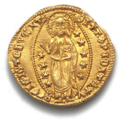 ITALIE, Venise : Thomas Mocenigo (1414-1423) Sequin d'or. 3,56 g. Fr. 1231. Sup...