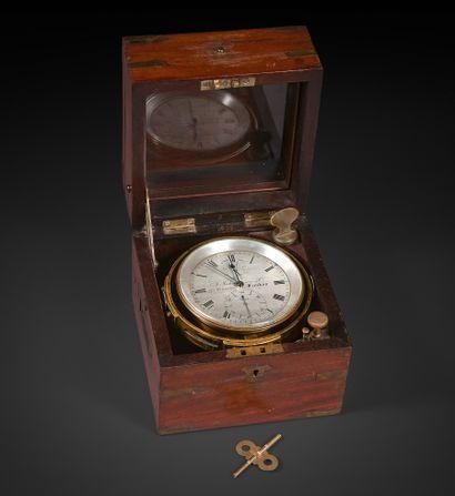 Chronomètre de marine Coffret en acajou numéroté...