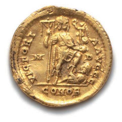 ARCADIUS (383-408) Solidus. Milan (402-403). 4,43 g. Son buste diadémé et drapé...