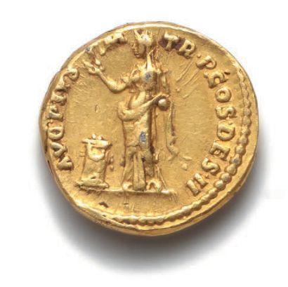 ANTONIN le Pieux (138-161) Auréus. Rome (138). 7,31 g. Sa tête laurée à droite....