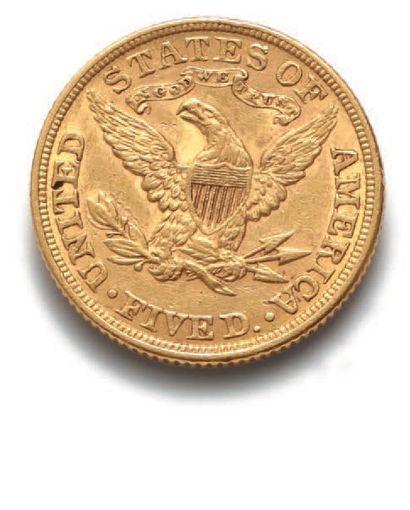 ÉTATS-UNIS 5 dollar type Liberté : 2 exemplaires. 1881. Fr. 143. Les 2 monnaies....