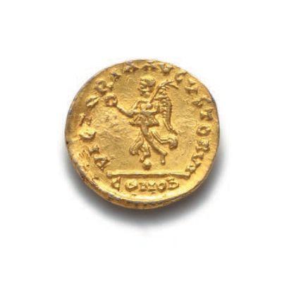 ANASTASE (491-518) Trémissis de style barbare Théodoric (493-526) au nom d'Anastase....