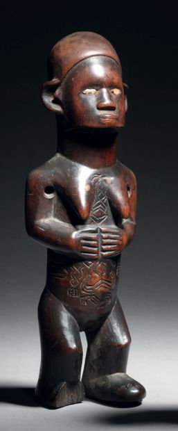Statuette Bembé, République Démocratique du Congo Début du XXe siècle Bois à patine...